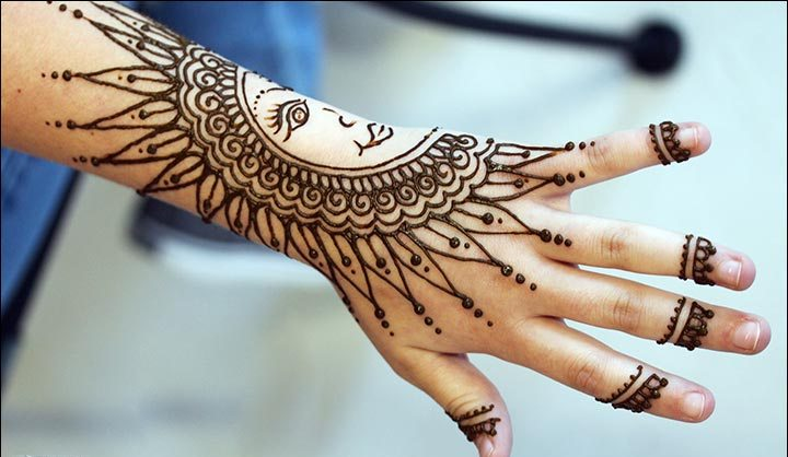 mehandi designs for left hand front side