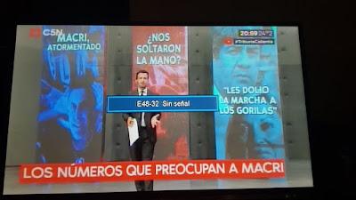 Anoche cablevisión bloqueó un informe contra macri