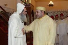 صورة الشيخ محمد الفزازي مع الملك المغربي محمد السادس