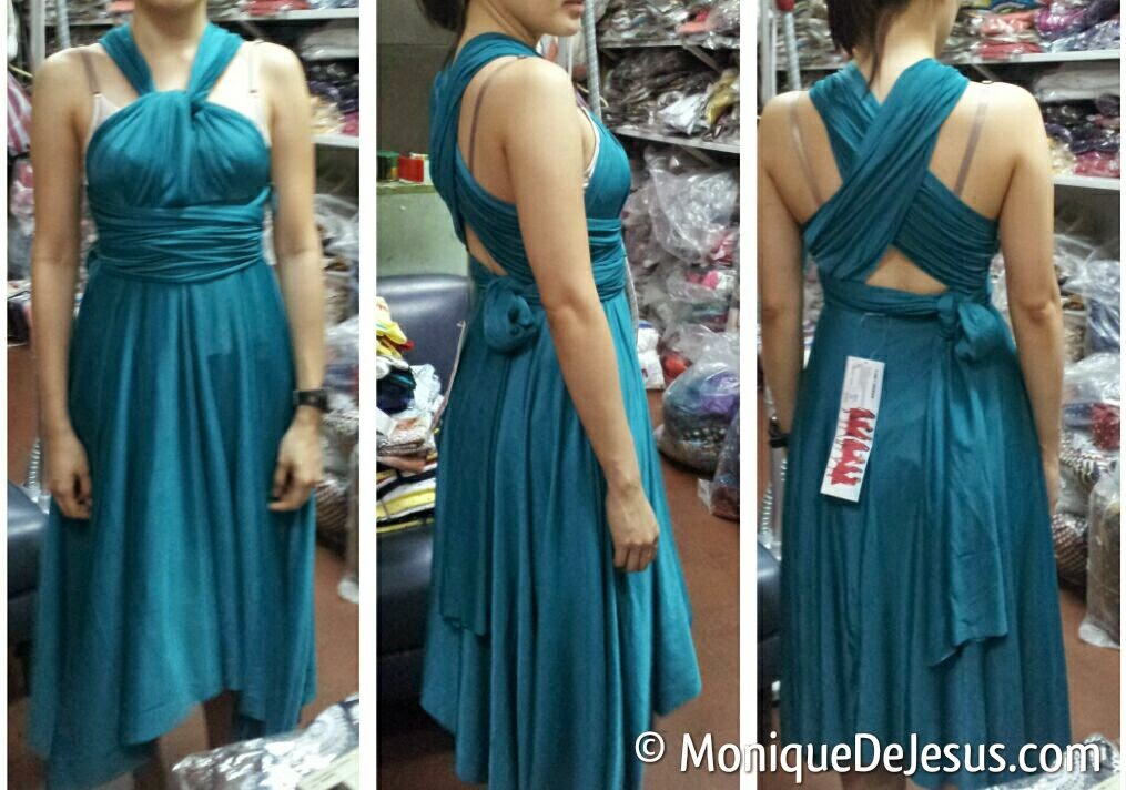 Infinity Dress For Entourage In Teal From Roslim Enterprise Juan LunaSt Binondo One Of The Many Styles You Can Do With It
