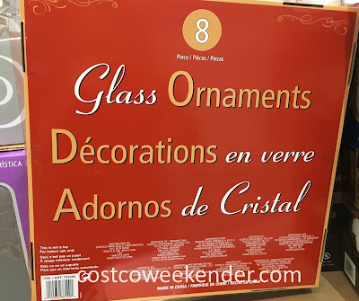Costco 755490 - Vintage Inspired Glass Ornaments (8 pc set) - to give your holidays a more classic feel