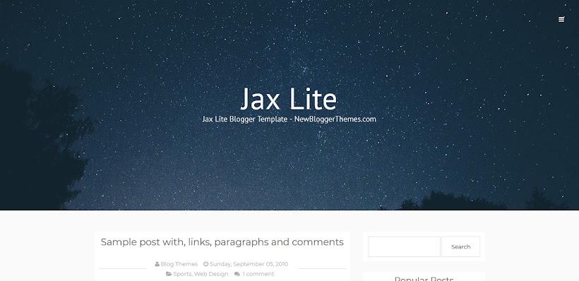 Jax Lite Free Blogger Template