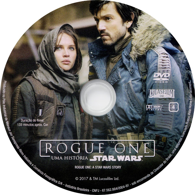 Label DVD Rogue One Uma História Star Wars (Oficial)