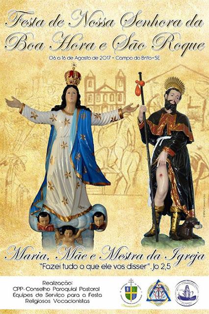 Cartaz Festa de Nossa Senhora da Boa Hora e São Roque - 2017
