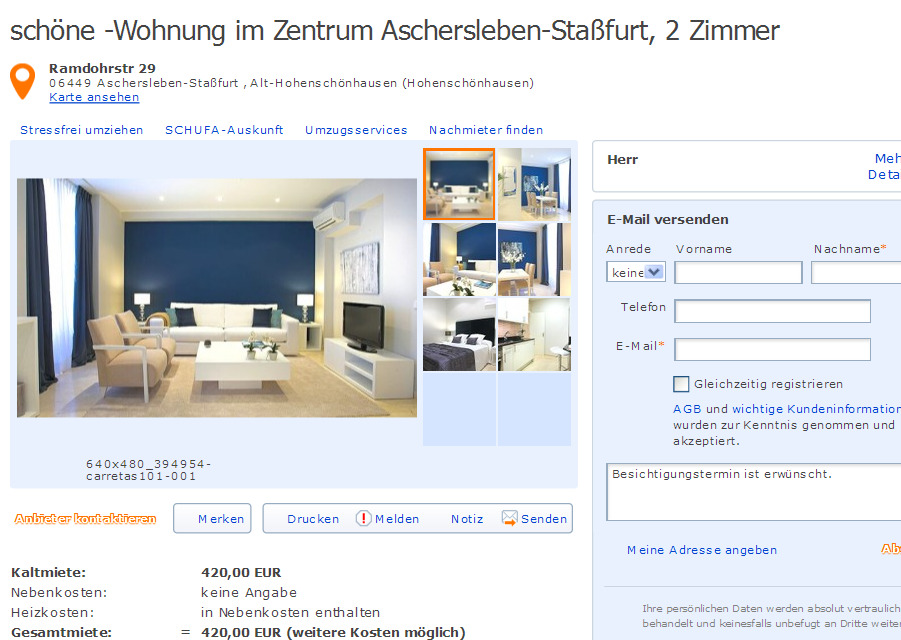 Schöne Wohnung Im Zentrum Informationen über Wohnungsbetrug