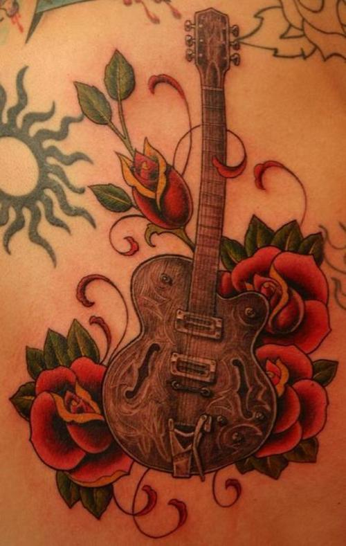 Guitar Tattoo Tattoo Design