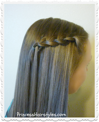 Fake waterfall braid or lace braid tutorial