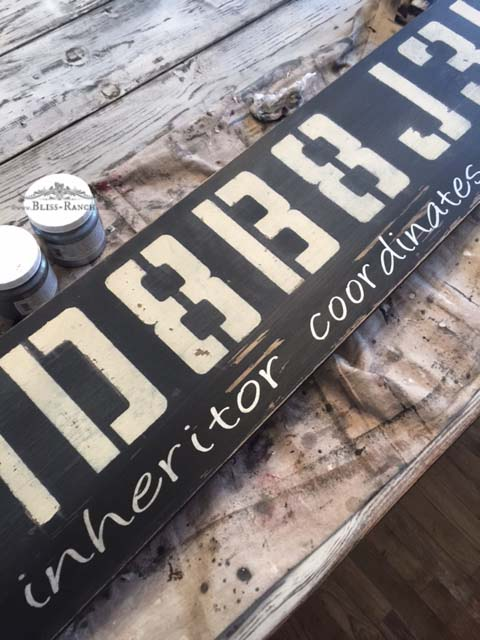 Custom Coordinates Style Sign Bliss-Ranch.com