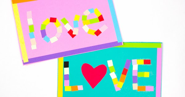 Mosaic Love Art Paper Craft Activity on Accordion Dragon Craft