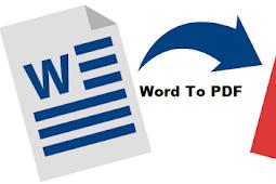 3 Cara paling mudah Merubah Word ke PDF