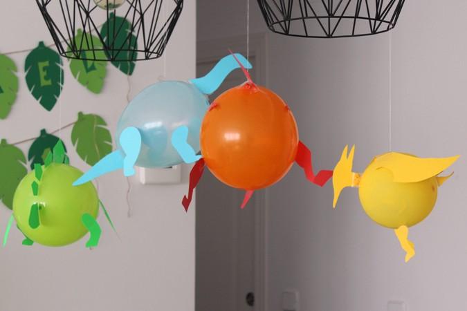 fiesta infantil con globos dinosaurio DIY