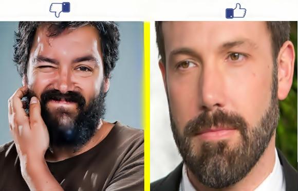 Homens barbados