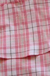 McCall's 7573 in a plaid fabric from Joann's - back plaid