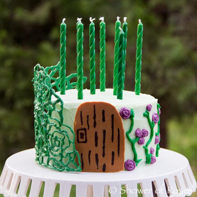 Shower of Roses Secret Garden Birthday Cake