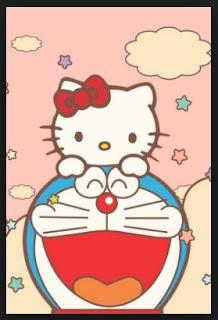 Gambar Doraemon dan Hello Kitty Lucu 1