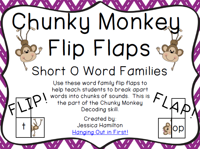 http://www.teacherspayteachers.com/Product/Chunky-Monkey-Flip-Flaps-Short-O-Word-Families-1113294