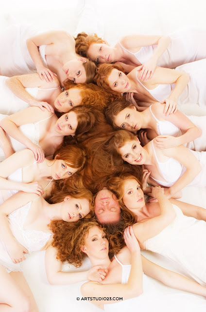 Roodharigendag Breda, 2007 publicity photo of Bart Rouwenhorst covered with red hair - ginger love