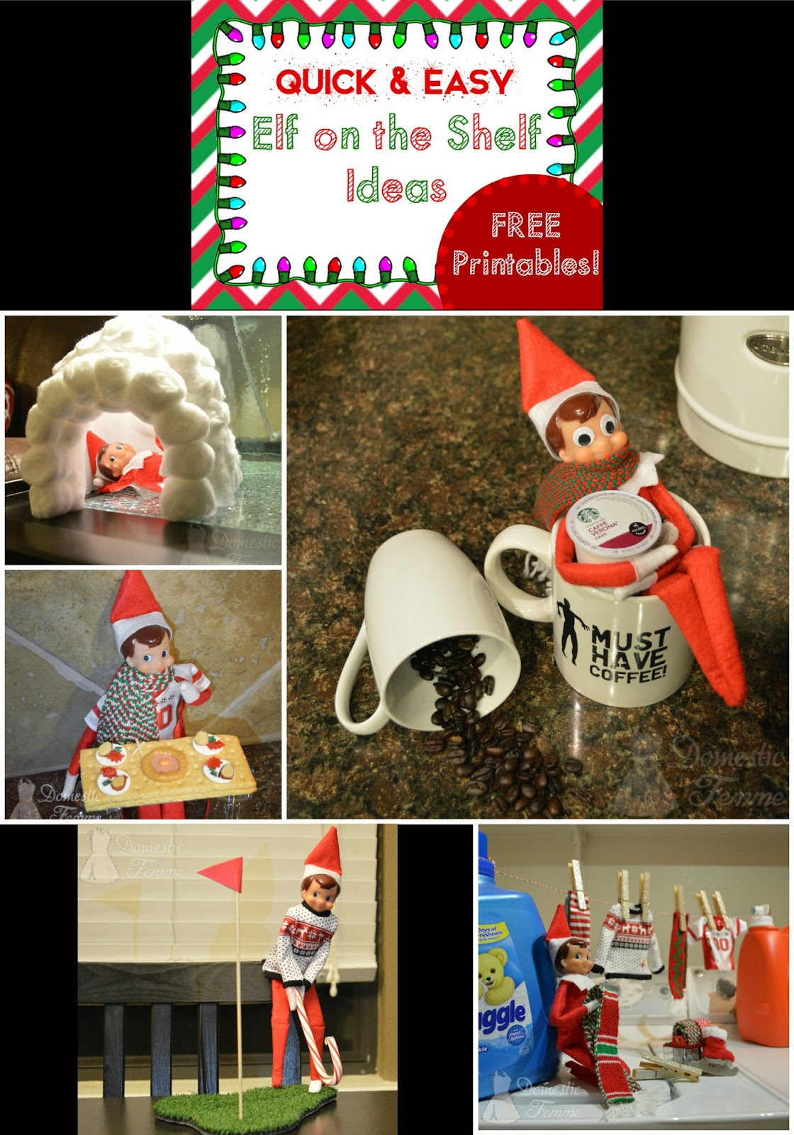 Domestic Femme Elf On The Shelf 2015 Calendar With Free