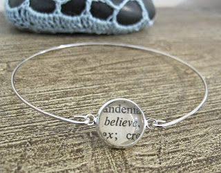 image believe bracelet bangle typography two cheeky monkeys words text thesaurus jewellery jewelry
