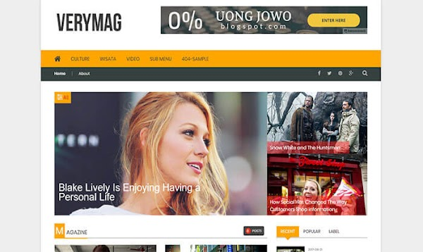 Chia sẻ VeryMag Blogger Template