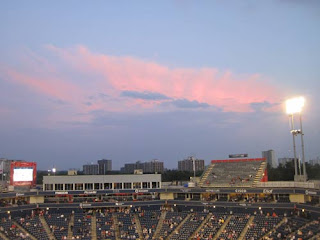 Sunset over the Rogers Cup.