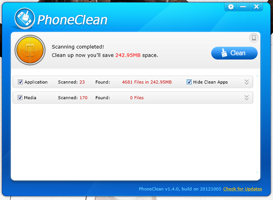 PhoneClean To Free Up iPhone's Space From Useless Data