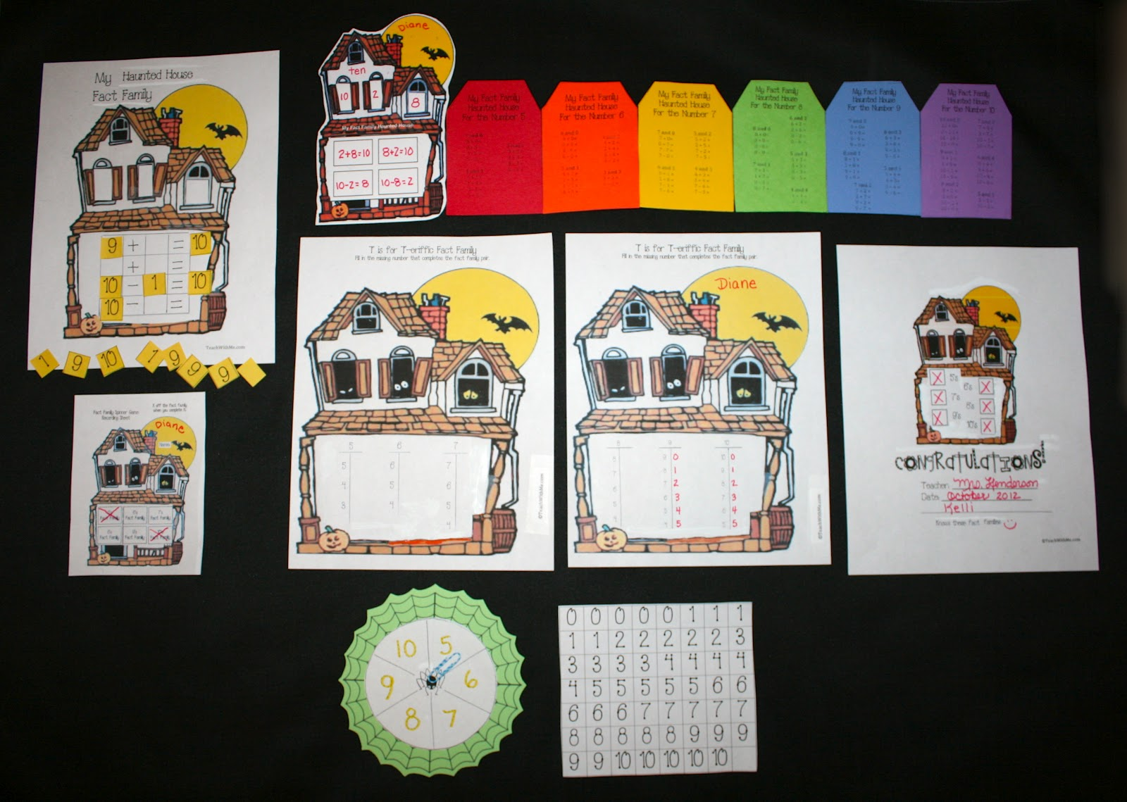 Classroom Freebies Fact Family Haunted House Packet