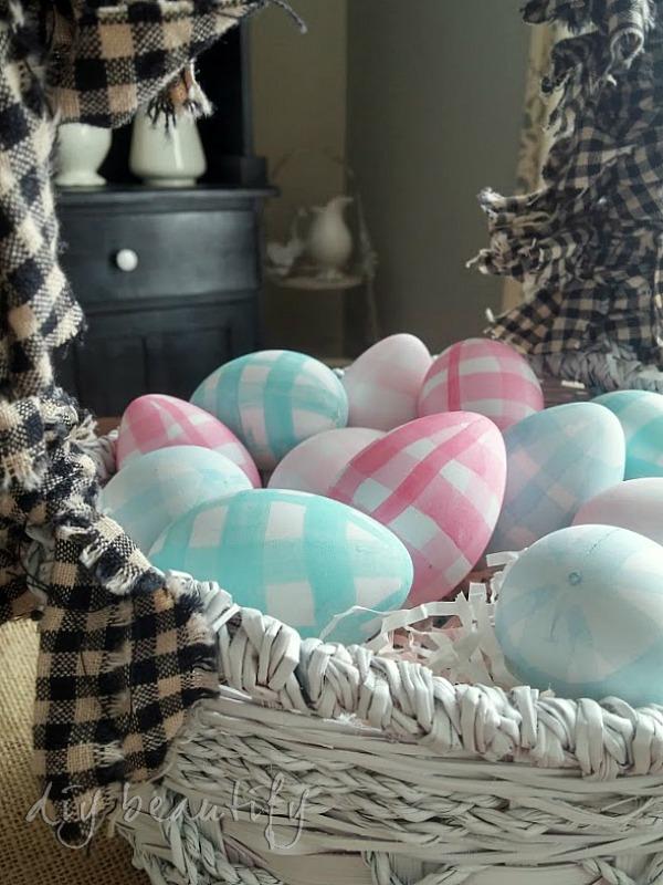 gingham eggs