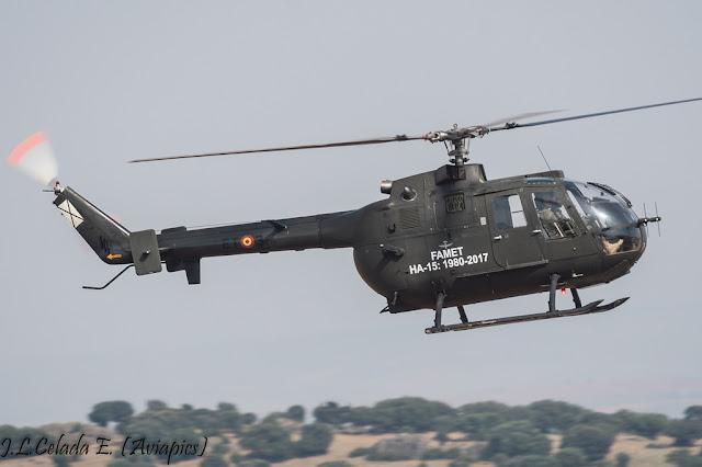 El Ejército jubila su último helicóptero Bo 105 Bolkow