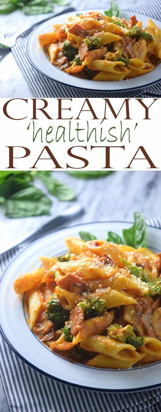 """Healthyish"" Pasta With Creamy Pasta Sauce"