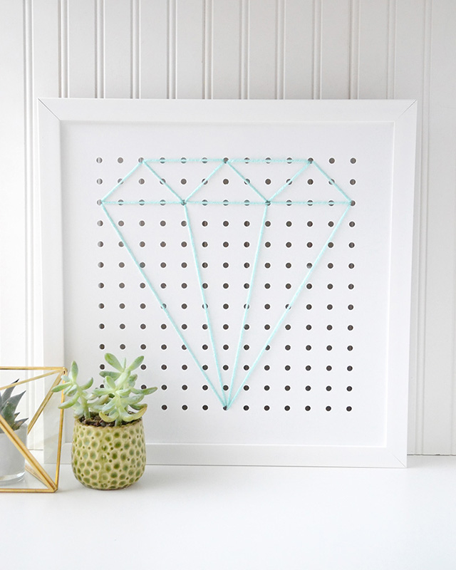 Painted Pegboard In Kitchen