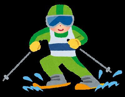 冬季オリンピックのイラスト「アルペンスキー」