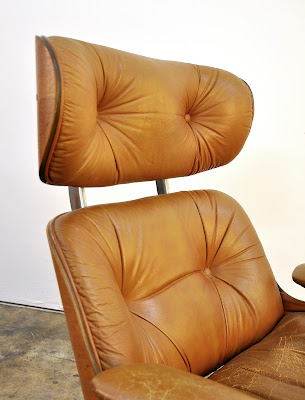 Selig Eames Chair Upholstered Dining Arm Chairs Select Modern: Frank Doerner For Style Butterscotch Lounge & Ottoman