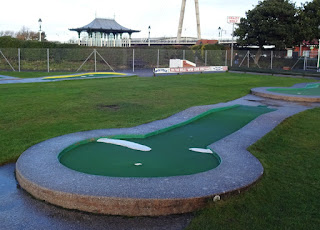 Crazy Golf course at King's Gardens in Southport