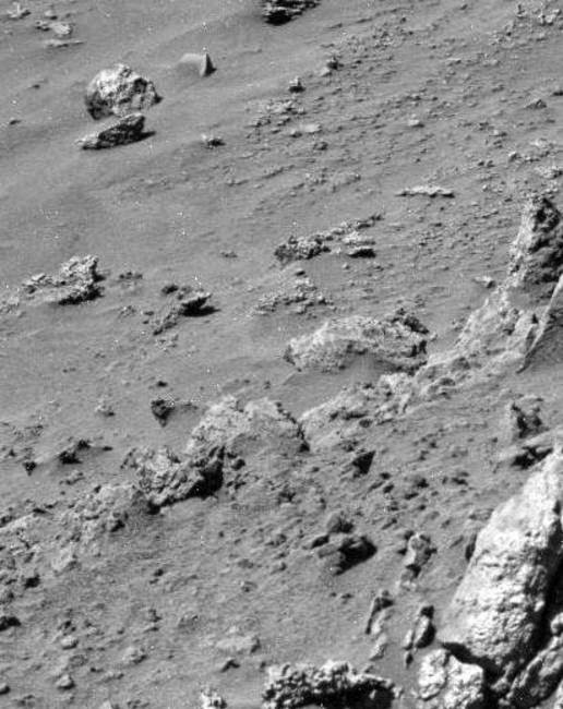 Humanoid skull structure seen on the surface of Mars taken by Rover Sprit