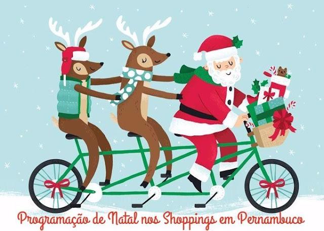 Programação de Natal nos Shoppings do Recife