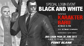 Event PB Garena Spesial Login Black and White
