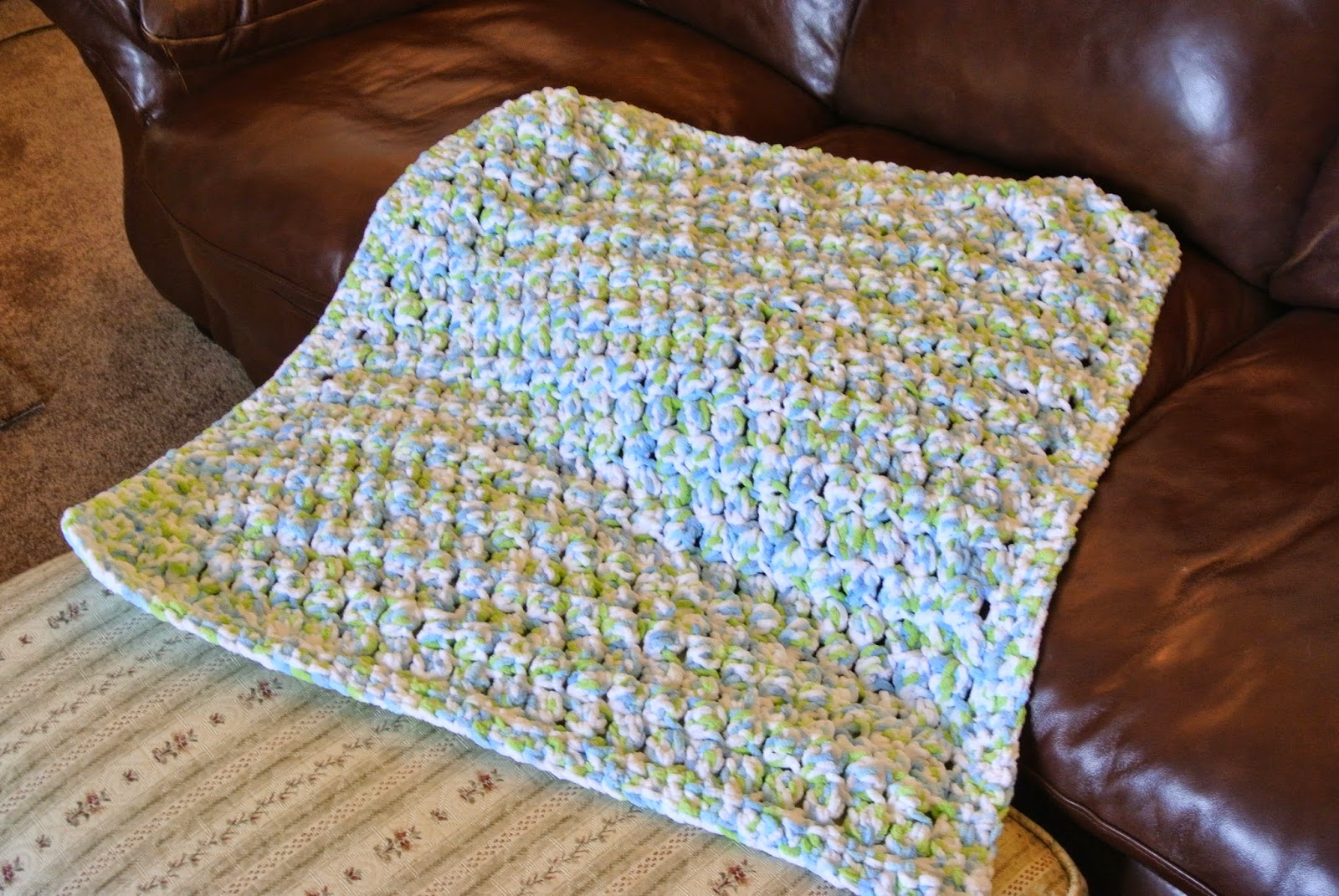 Bunny Blog Puffy Baby Blanket Made With Bernat Baby