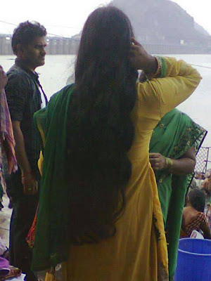 Free Indian Long Hair Women Head Shave