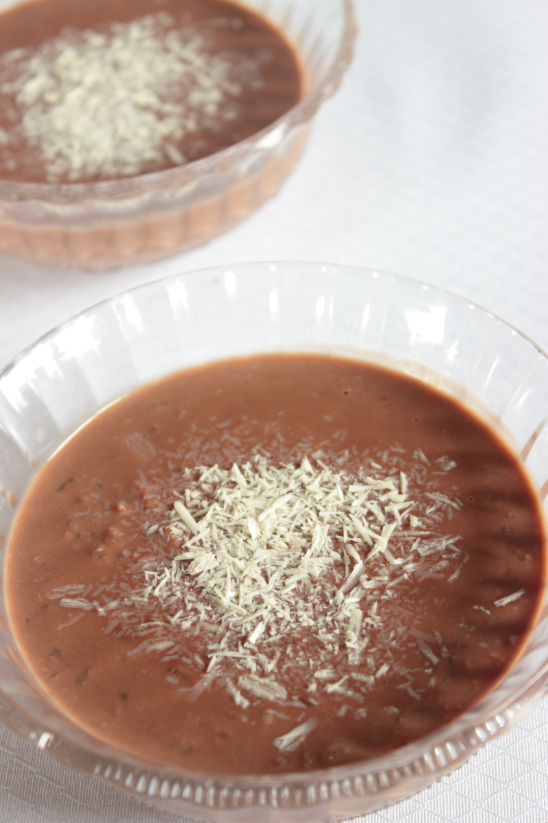 Arroz con leche al chocolate