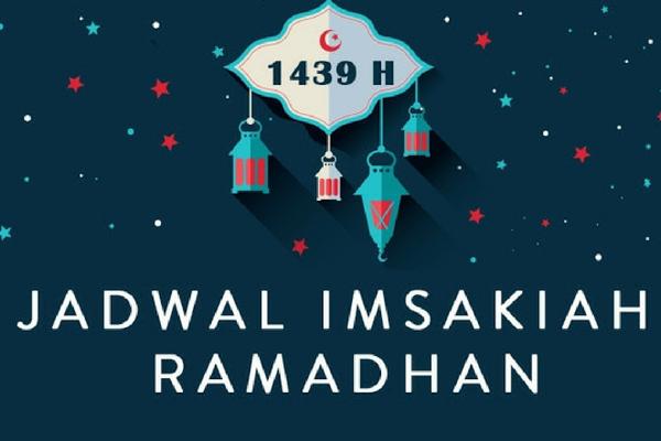 Jadwal Imsakiyah Ramadhan 1439 H/ 2018 Wilayah Mataram NTB
