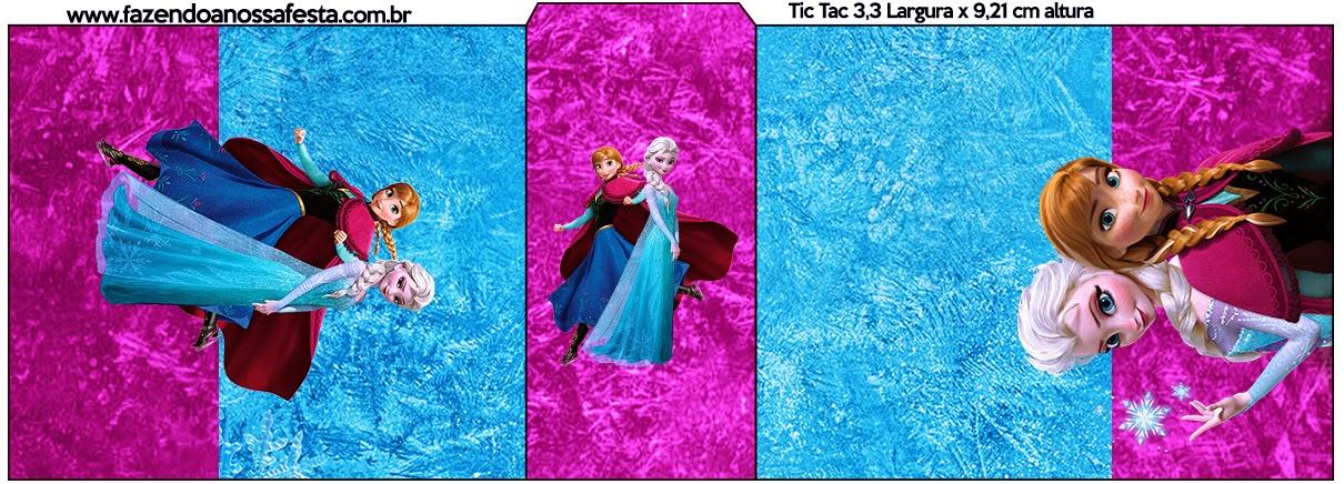 Etiqueta de Frozen Azul y Purpura para Tic Tac.
