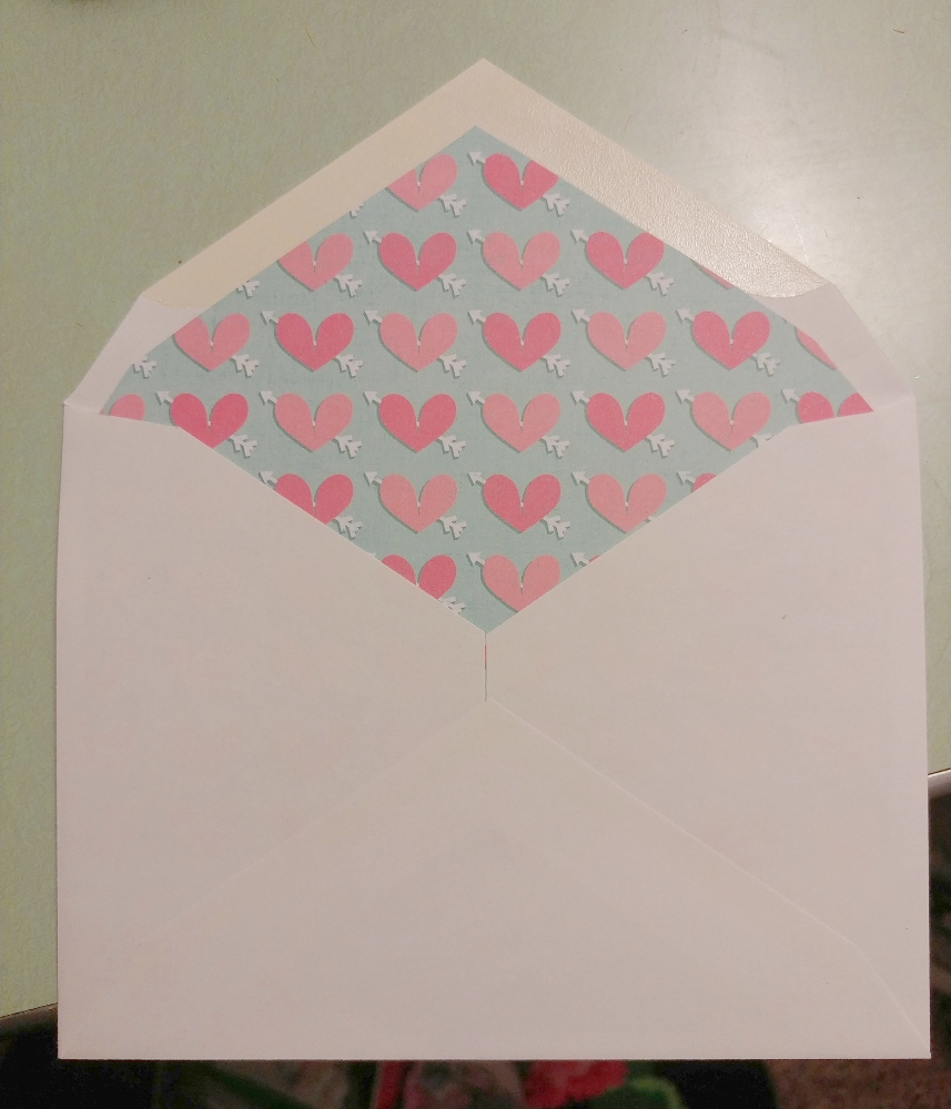 lined envelope DIY