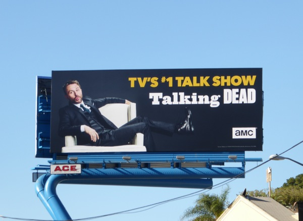 Talking Dead TV talk show billboard
