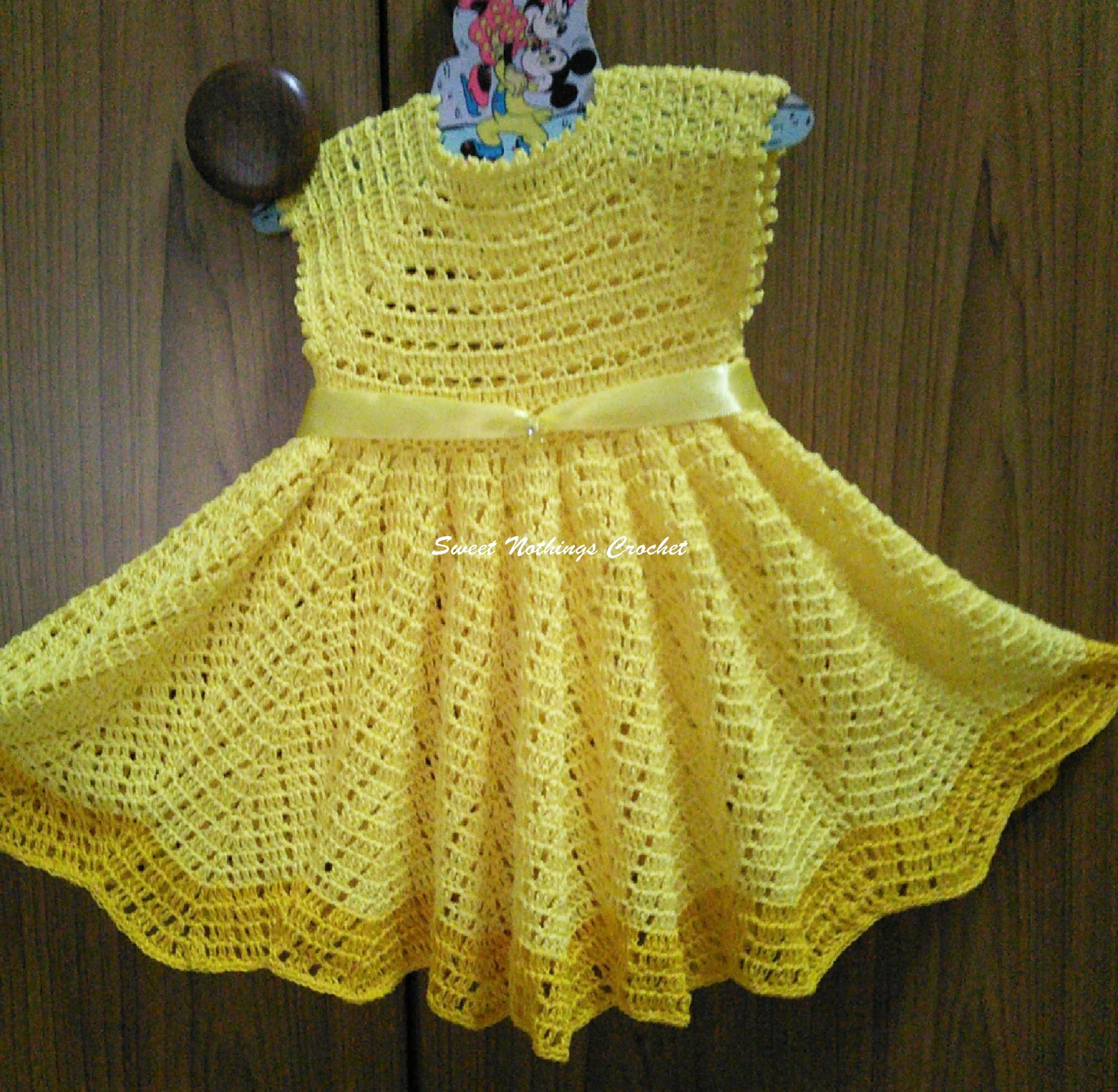 24633dc7a49f5 Sweet Nothings Crochet  EXQUISITE CHEVRON BABY DRESS - 2