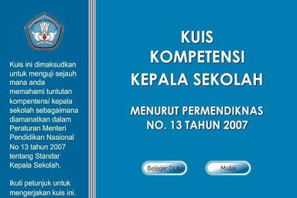 Aplikasi Kuis Kompetensi Kepala Sekolah dan Kunci Jawaban