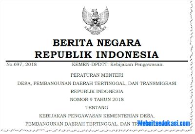Permendesa PDTT Nomor 9 Tahun 2018