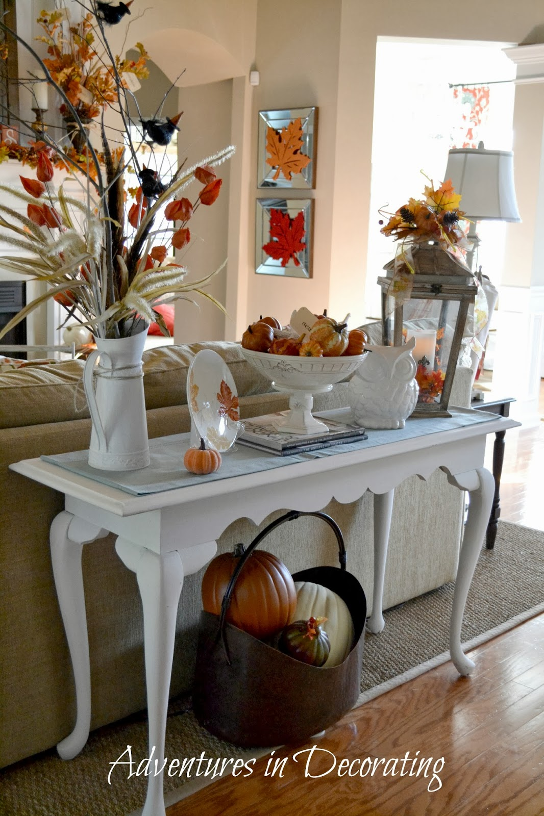 Adventures In Decorating Our Fall Kitchen: Adventures In Decorating: A Fall Vignette That Didn't Cost