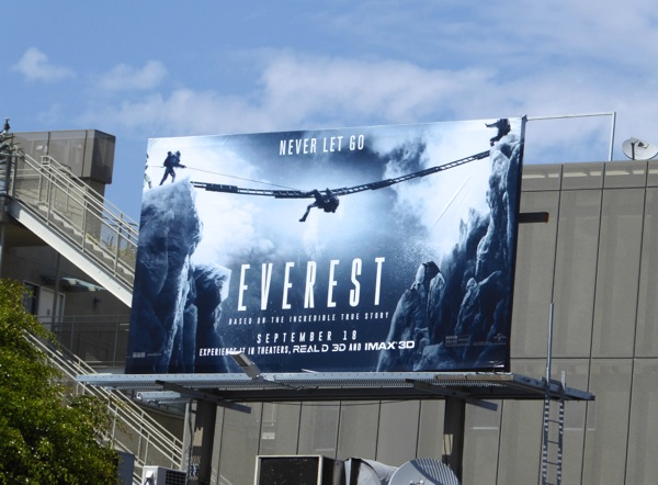 Everest Never let go billboard