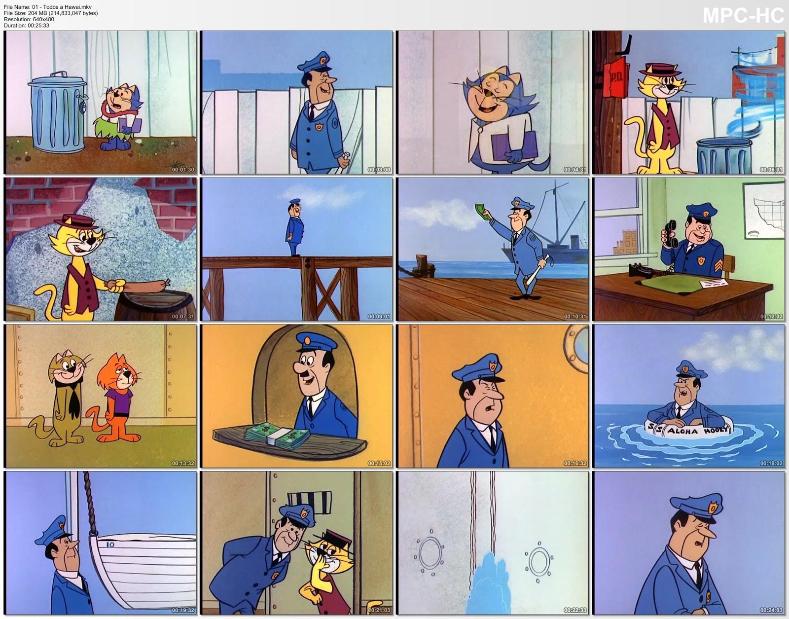 Miniaturas de un episodio de Don gato y su pandilla
